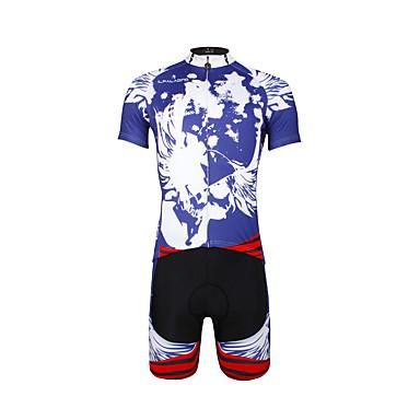 ILPALADINO Wielrenshirt met shorts Heren Unisex Korte Mouw Fietsen PakkenSneldrogend Ultra-Violetbestendig Ademend Compressie
