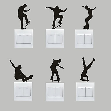 sport Wall Stickers Fly vægklistermærker Dekorative Mur Klistermærker / Klistermærker til kontakter,PVC Materiale Kan fjernesHjem