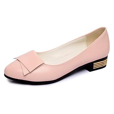 Loafers og Slip-ons-Kunstlæder-Komfort / Flade balletsko / Ankelstøvler / Gladiator / Sko og matchende sko / Fladsko-Dame-Sort / Rosa /