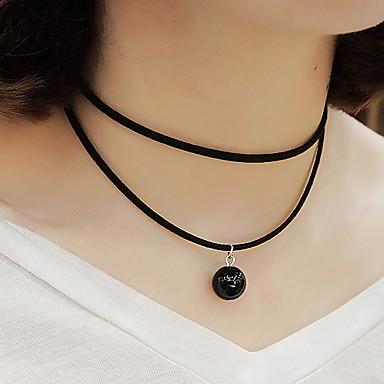 Damen Anhängerketten Perle Künstliche Perle Baumwollflanell Modisch Weiß Schwarz Schmuck Party Alltag Normal 1 Stück
