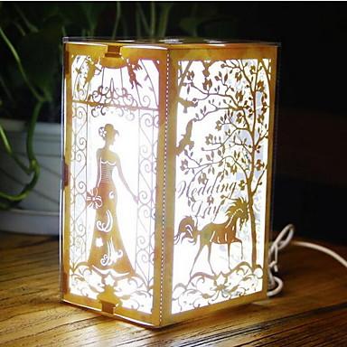 leidde nachtlampje creatieve nieuwigheid elektronische producten kleurrijke 3D-lamp 's nachts licht decoratieve verlichting romantische