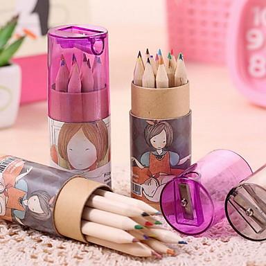 cs008 planktoniske sød pige 12 farve blyant box