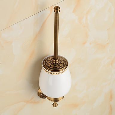 WC-Bürstenhalter Badezimmer Gadget / Poliertes Messing Antik