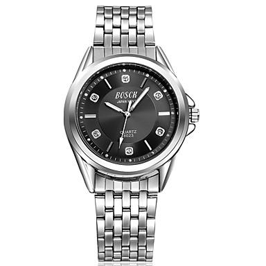 Heren Modieus horloge Waterbestendig / s Nachts oplichtend Roestvrij staal Band Informeel Zilver
