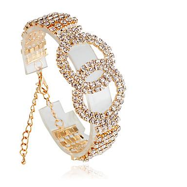 Mujer Tenis pulseras - Moda Pulseras y Brazaletes Joyas Plata / Dorado Para Boda