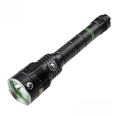 U'King LED-Zaklampen LED 3H (depending on the battery capacity calculation) Lumens 5 Modus - Cree XM-L2 18650 Compact formaat Dimbaar