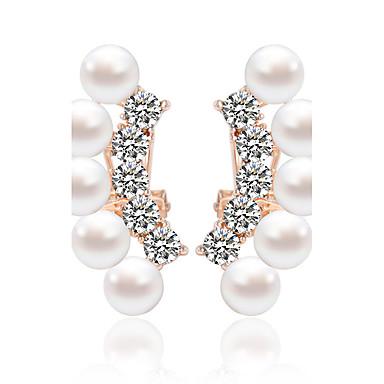 Dame 1 Dråbeøreringe Mode Imiteret Perle Legering Rund Smykker Bryllup Fest Daglig Afslappet Kostume smykker