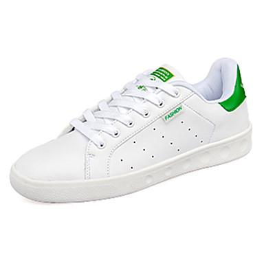 Heren Platte schoenen Zomer Comfortabel PU Casual Platte hak Overige Zwart Groen Rood