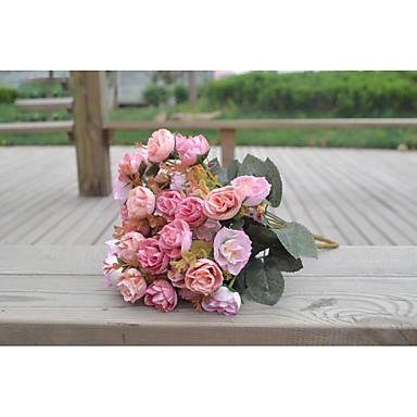 Polyester Hochzeits-Dekorationen-1piece / Set Künstliche Blumen Hochzeit Klassisches ThemaRot / Rosa / Orange / Fuchsie / Burgunder Rot /