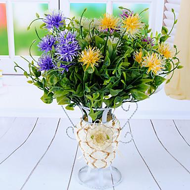 1 haara Polyesteri Muovi Kasvit Pöytäkukka Keinotekoinen Flowers