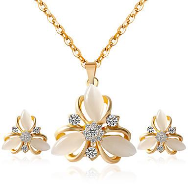 Mujer Conjunto de joyas - Incluir Los sistemas nupciales de la joyería Dorado Para Boda / Fiesta