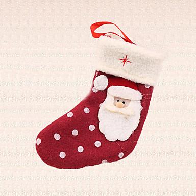 1pc Polka Dot Weihnachtsmann Socke Anhänger Weihnachtsbaumdekoration Outdoor-Home-Party Geschenk liefert