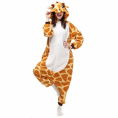 ea23e300c964 Adults  Kigurumi Pajamas Giraffe Onesie Pajamas Polar Fleece Orange Cosplay  For Men and Women Animal