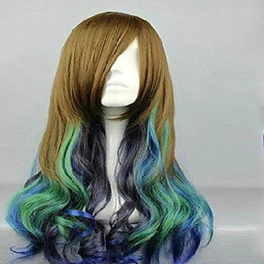 Syntetisk hår Parykker Krop Bølge Lokkløs Kostyme Parykk