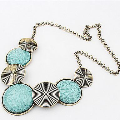 Dame Erklæring Halskæder Cirkelformet Geometrisk form Legering Mode Europæisk kostume smykker Boheme Stil Personaliseret Statement-smykker