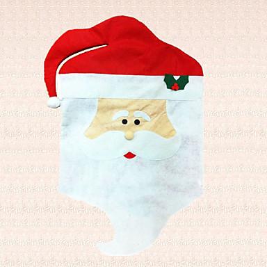 levering 1pc ikke-vævede jul santa claus hætte stol cover dekoration indendørs fest