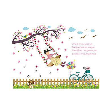 Botanisk Wall Stickers Fly vægklistermærker Dekorative Mur Klistermærker,PVC Materiale Vaskbar / Kan fjernes / Kan genpositioneresHjem