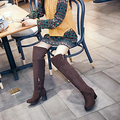Automne Femme Confort Laine rond Fermeture Bottes la Boucle 05499899 synthétique Talon Mode Bottes Chaussures Hiver Bottier à Marche Bout wrRfxrq