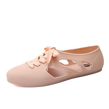 Sandaler-PUDame-Sort Blå Gul Grøn Rosa Hud-Fritid-Flad hæl