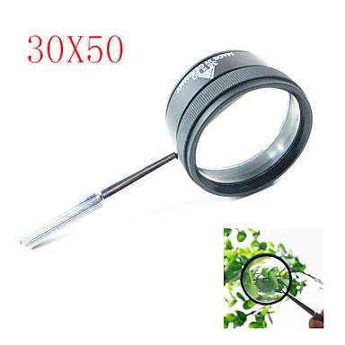 顕微鏡 高解像度 ポータブル 35X 50mm メタル