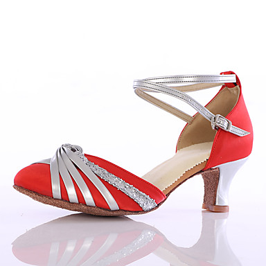 Női Modern cipők Selyem Magassarkúk Otthoni Személyre szabott sarok Piros Személyre szabható