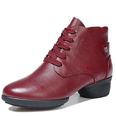 Sapatos de Dança(Preto / Vermelho) -Feminino-Não Personalizável-Moderna / Botas de dança