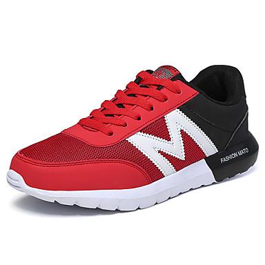 Damen-Sneaker-Sportlich-Tüll-Flacher Absatz-Komfort-Blau Grau Schwarz und Rot