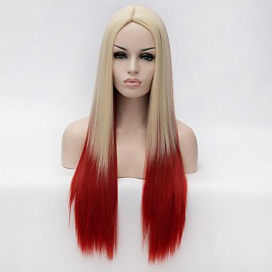 Syntetiske parykker Blond Syntetisk hår Blond Paryk Dame Lang Lågløs