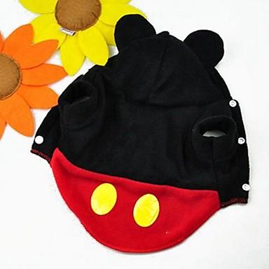 Katze Hund Kostüme Kapuzenshirts Austattungen Hundekleidung Niedlich Cosplay Cartoon Design Rot Kostüm Für Haustiere