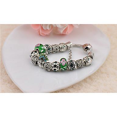 Damen Strang-Armbänder Modisch Perlenbesetzt Handgemacht Glas Kreisform Schmuck Für