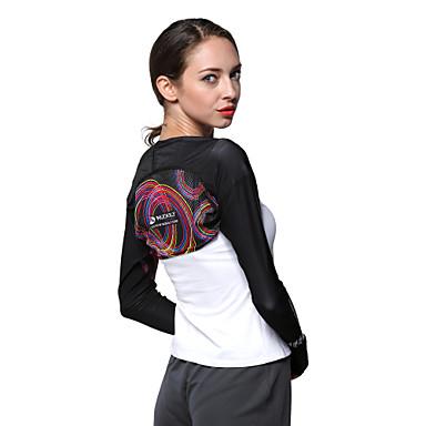 Nuckily Damen Laufshirt Langarm UV-resistant Atmungsaktiv Sonnenschutz Oberteile für Camping & Wandern Angeln Übung & Fitness Radsport /