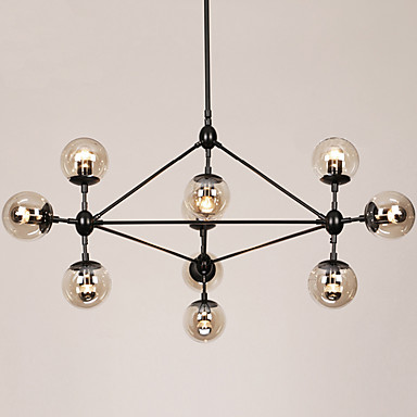 Retro Crystal Chandelier Ambient Light For Living Room Bedroom Dining Room Study Room/Office Outdoor Entry Game Room Hallway Garage