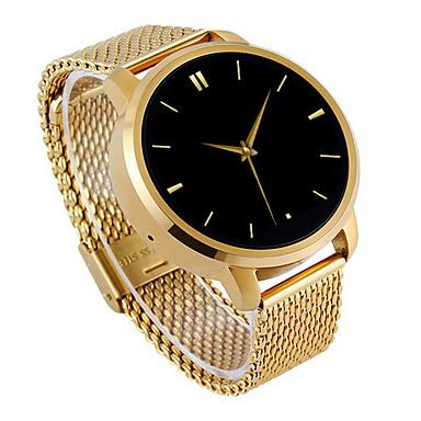Heren Smart horloge Kwarts Aanraakscherm Stappenteller / Roestvrij staal Band Informeel Zilver Goud