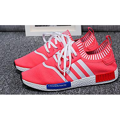 Damen-Sneaker-Lässig-Tüll-Flacher AbsatzSchwarz Blau Rot
