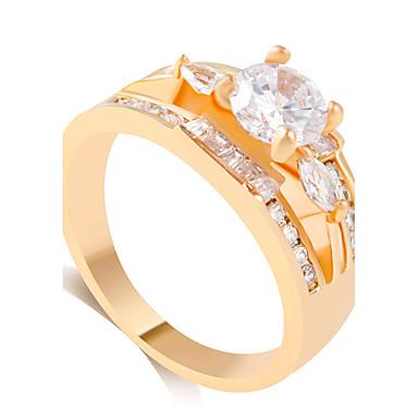 Ringe Mode Bryllup Smykker Legering Dame Båndringe 1 Stk.,8 9 8½ 9½ Gylden Sølv