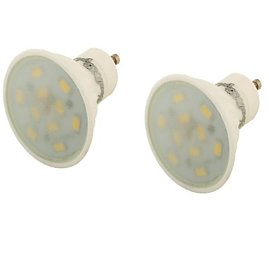 5 GU10 LED-spotlampen MR16 10 SMD 5730 400 lm Warm wit Decoratief AC 85-265 V 2 stuks