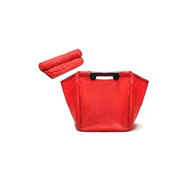 Reise Supermarkt faltbare Einkaufstasche grüne Tasche einkaufen Großhandel Nylon (verkauft rot)