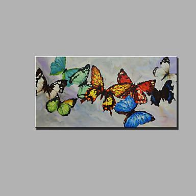 Hånd-malede Abstrakt Dyr Horisontal, Klassisk Moderne Lærred Hang-Painted Oliemaleri Hjem Dekoration Et Panel