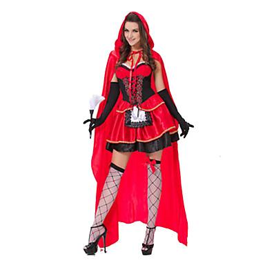 Prinses Sprookje Cosplay Kostuums Feestkostuum Vrouwelijk Halloween Festival/Feestdagen Halloweenkostuums Patchwork