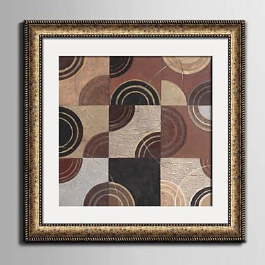 Fantasia Quadros Emoldurados / Conjunto Emoldurado Wall Art,PVC Material Dourado Cartolina de Passepartout Incluída com frame For
