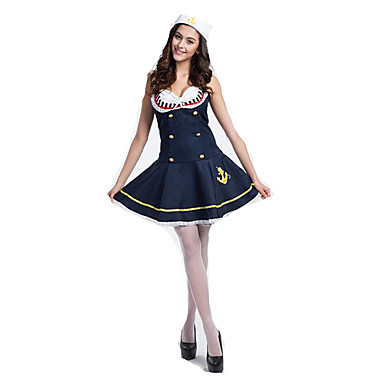 quality design a0a4a dc443 Marinaro Costumi Cosplay Vestito da Serata Elegante Per donna Natale  Halloween Capodanno Feste / vacanze Costumi Halloween blu navy