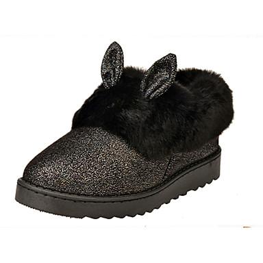 Støvler-Pels-Snowboots-Dame-Sort Rosa Grå Beige-Udendørs Fritid-Flad hæl