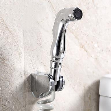 Moderne Wandmontage Mit ausziehbarer Brause Messingventil Zwei Griffe Ein Loch Chrom, Bidet Wasserhahn