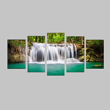 Photographic Print Canvas Set Canvas Print Landscape Leisure Botanical Photographic Realism Travel Five Panels Horizontal Print Wall Decor
