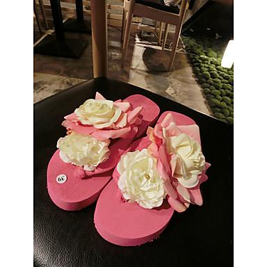 Tøfler & Klip Klapper-Gummi-Mary Jane-Damer-Lys pink-Fritid-Flad hæl