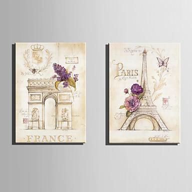 Építészet Vászon nyomtatás Két panel Kész lógni , Függőleges