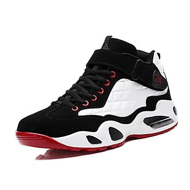 Sneakers-PU-Komfort-Herre-Sort Rød-Fritid-Flad hæl