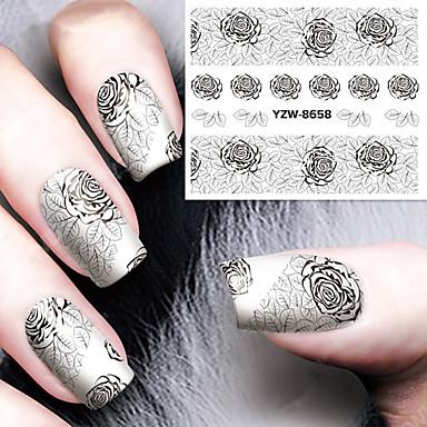 1 Pcs Adesivo Per Trasferimento D'acqua Manicure Manicure Pedicure Di Tendenza Quotidiano #05249606