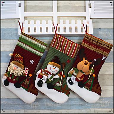 1pc Høytider Strømper Jul, Feriedekorasjoner Holiday Ornaments