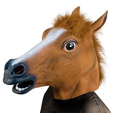 Cap de Cal Mască de Halloween Decorațiuni de Halloween Masca pentru animale Jucarii de Halloween Jucarii funny haioase Jucarii cap de cal